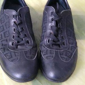 Fendi monogram black sneakers